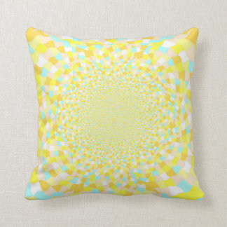 Jewel Dazzle Cushion yellow / blue all over design Throw Pillow