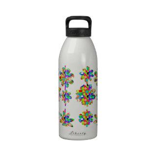 JEWEL el arte decorativo de la frontera del diseño Botella De Agua