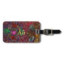 Jewel Encrusted Autism Luggage Tag