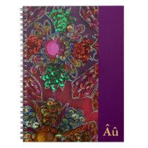 Jewel Encrusted Spiral Notebook