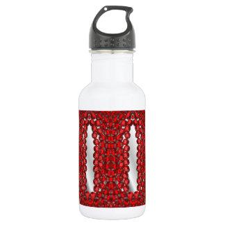 Jewel encrusted water bottle, red water bottle