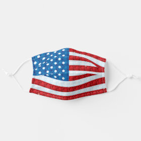 Jewel Flag Gem Bling Patriotic USA Cloth Face Mask