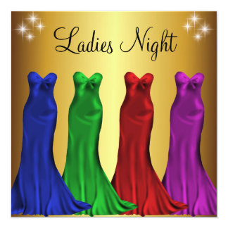 Jewel Formal Gowns Ladies Night Gold Personalized Announcements