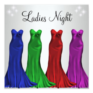 Jewel Formal Gowns Ladies Night Silver Custom Announcements