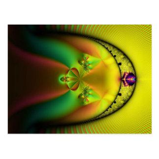 jewel gold post card