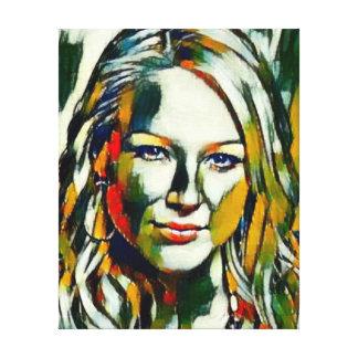 Jewel Kilcher Oil Portrait Canvas Print