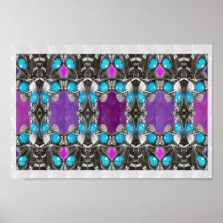 JEWEL la colección de ARTE baja púrpura del amor d Posters