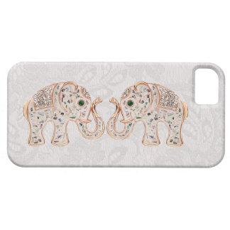 Jewel la foto de los elefantes y el caso del funda para iPhone SE/5/5s