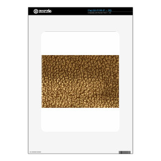 Jewel like texture on leather background template decals for the iPad