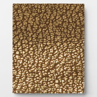 Jewel like texture on leather background template plaque