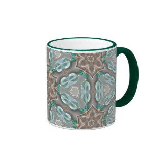 Jewel Linked Triangles Ringer Coffee Mug