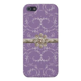 Jewel Look Silver Bling Octagonal Diamond Swirls Case For iPhone SE/5/5s