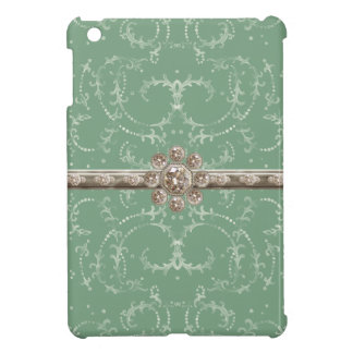 Jewel Look Silver Bling Octagonal Diamond Swirls Cover For The iPad Mini