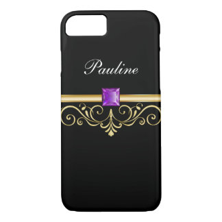 Jewel Monogram Style iPhone 8/7 Case