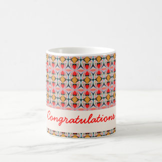 Jewel n Diamond Pattern with EDITABLE Text Classic White Coffee Mug