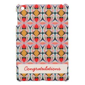 Jewel n Diamond Pattern with EDITABLE Text Cover For The iPad Mini