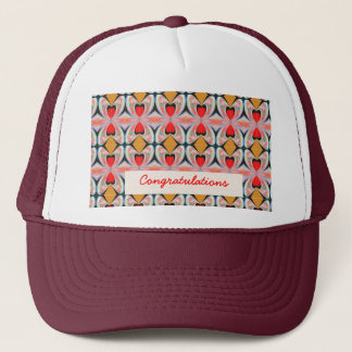 Jewel n Diamond Pattern with EDITABLE Text Trucker Hat