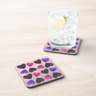 Jewel of Hearts Beverage Coasters