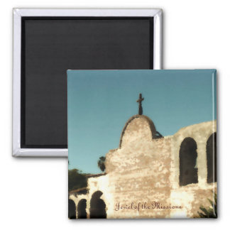 Jewel of the Missions 2 Inch Square Magnet
