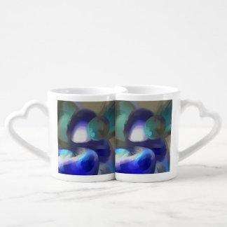 Jewel of the Nile Pastel Abstract Couples Coffee Mug