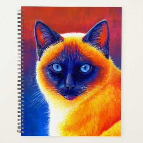 Jewel of the Orient Colorful Siamese Cat Planner
