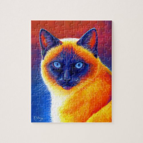 Jewel of the Orient Colorful Siamese Cat Puzzle