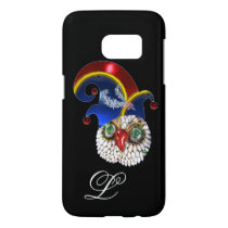 JEWEL OWL AND  ELF HAT WITH DIAMOND FEATHERS SAMSUNG GALAXY S7 CASE