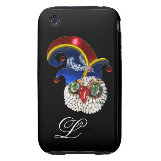 JEWEL OWL AND  ELF HAT WITH DIAMOND FEATHERS TOUGH iPhone 3 CASE