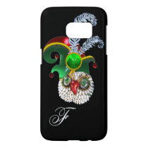 JEWEL OWL, ELF HAT ,SHAMROCK AND DIAMOND FEATHERS SAMSUNG GALAXY S7 CASE