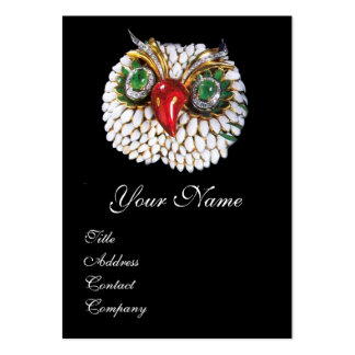 JEWEL OWL ,Gold,Green Emerald ,opale Large Business Card