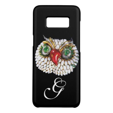 Professional Business JEWEL OWL MONOGRAM ,Gold,Green Emerald ,opale Case-Mate Samsung Galaxy S8 Case
