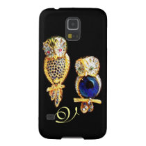 JEWEL OWLS,Gold, Blue Sapphire ,Topaz Case For Galaxy S5