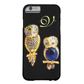 JEWEL OWLS,Gold, Blue Sapphire ,Topaz White Pearl Barely There iPhone 6 Case