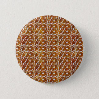 Jewel Pattern Golden Brown Theme Color Pinback Button