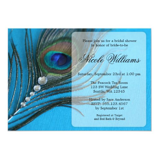 Peacock Bridal Shower Invitations for your inspiration to make invitation template look beautiful