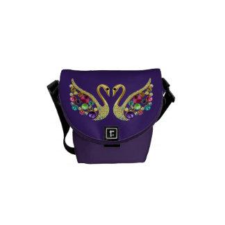 Jewel Peacocks Funky Purple Messenger Bag