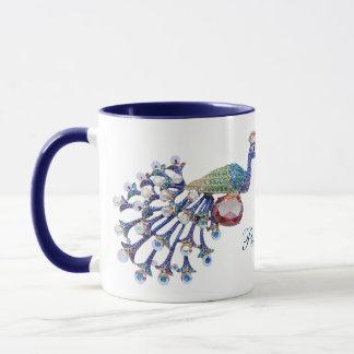 Jewel Peacocks Personalized Mug