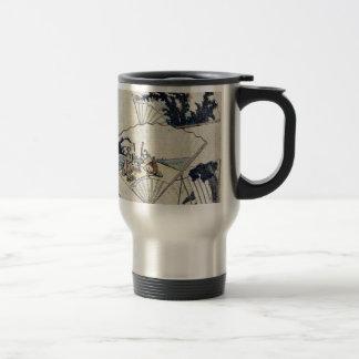 Jewel river in fan paste ups by Katsushika,Hokusai 15 Oz Stainless Steel Travel Mug