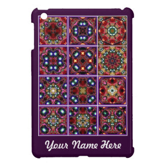 Jewel Series No2 Tiled Kaleidoscope Mini iPad Case Cover For The iPad Mini