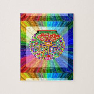 Jewel set in HEART CHAKRA Jigsaw Puzzles