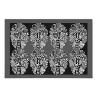 JEWEL Sparkle BNW B&W Black N White ART Collection Poster