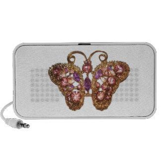 Jewel Sparkle Butterfly Pink Purple Customize Speaker