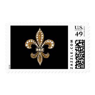 Jewel Sparkle Fleur De Lis New Orleans Stamp