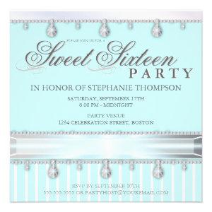 Jewel Sparkle Sweet 16 Birthday Party Invitation