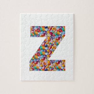Jewel Stone Studded Alpha ZZZ z ZZ  Birthday Gifts Jigsaw Puzzles