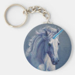 Jewel the Unicorn Basic Round Button Keychain