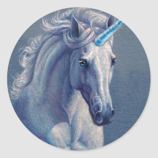 Jewel the Unicorn Classic Round Sticker