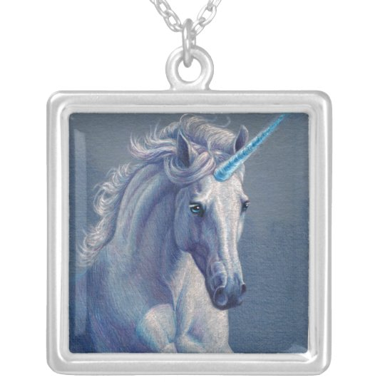 Jewel the Unicorn Silver Plated Necklace