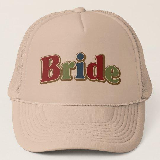 Jewel Tone Bride Trucker Hat