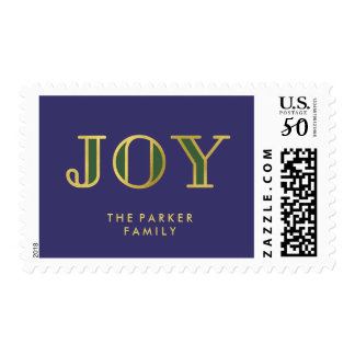 Jewel Tone Christmas Joy with Gold Postage